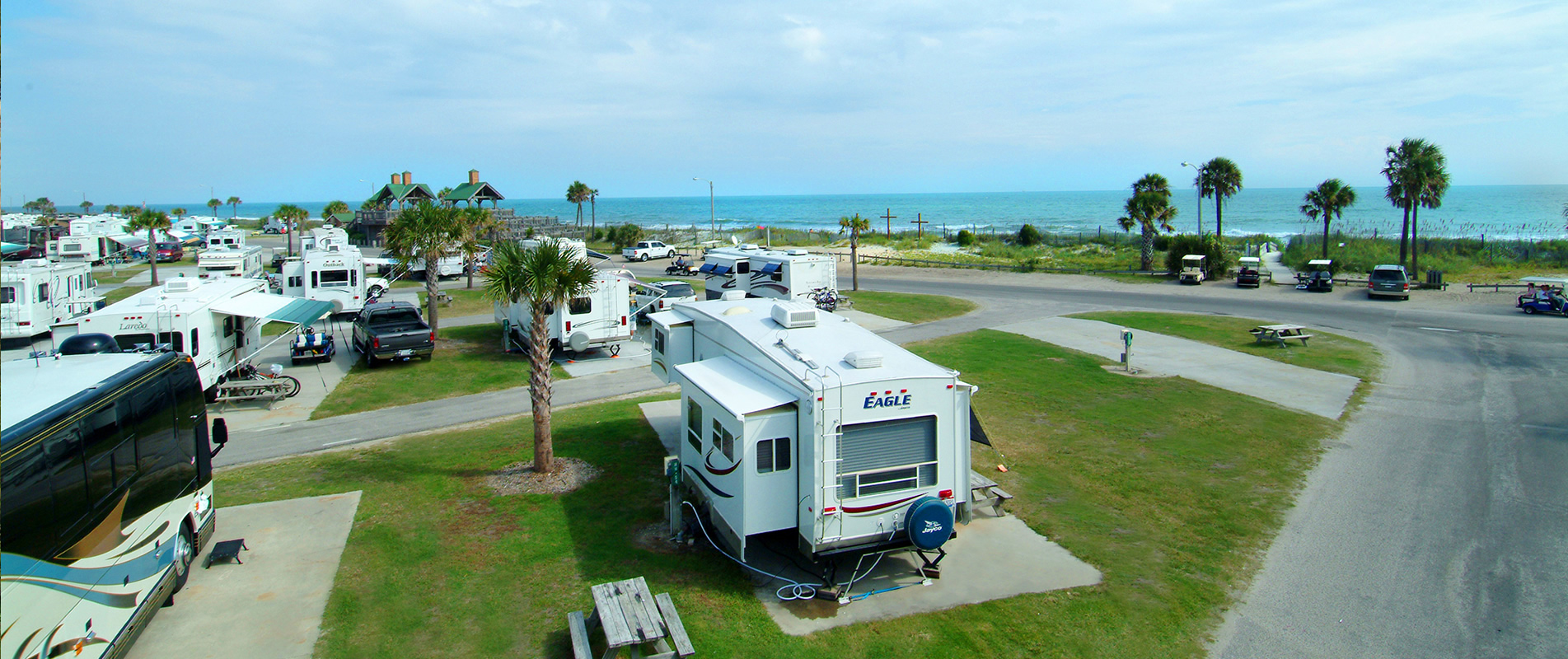 Oceanfront Campsites Myrtle Beach Sc In Ocean Lakes