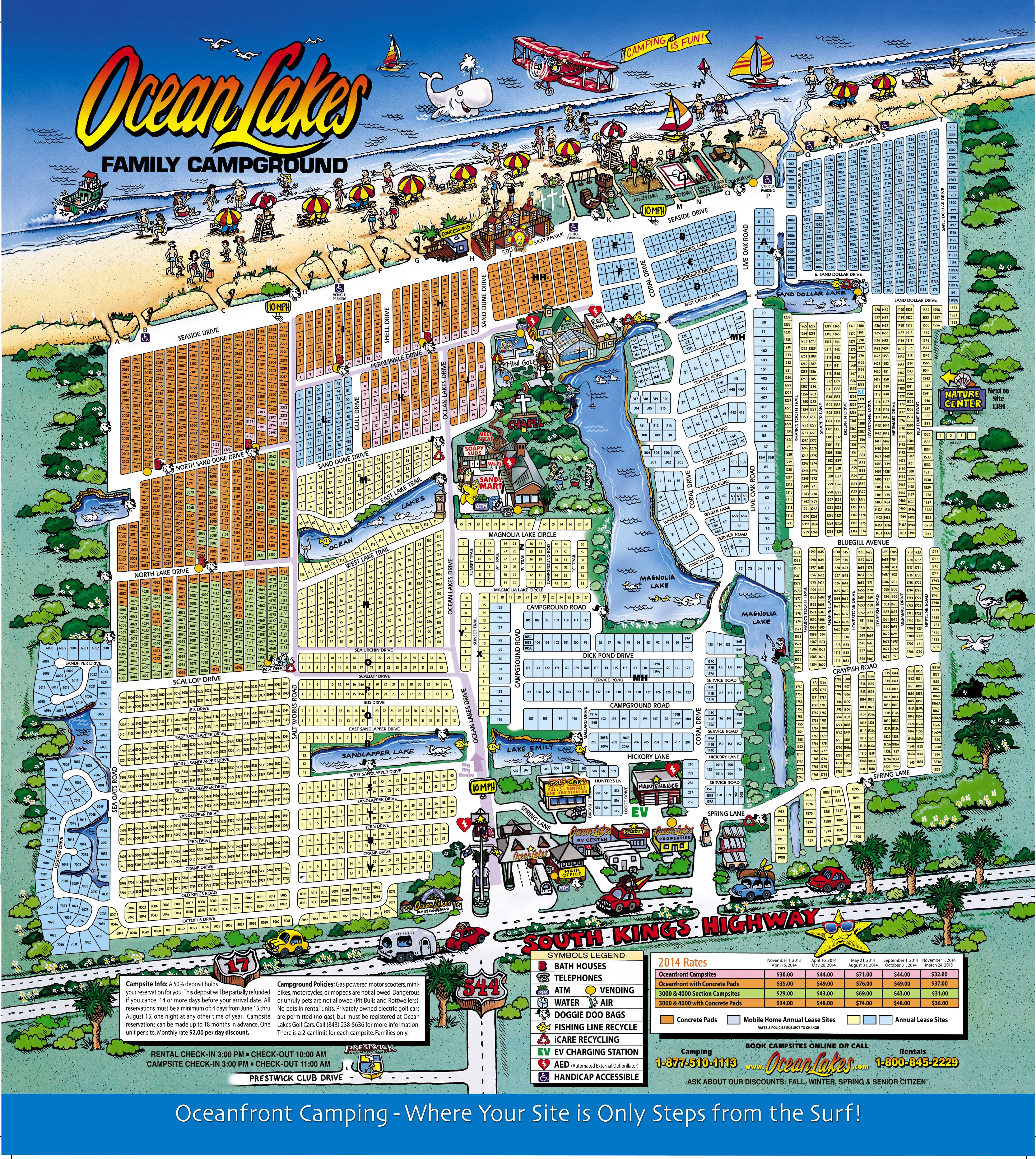 Oceanlakes2017map Ocean Lakes Family Campground