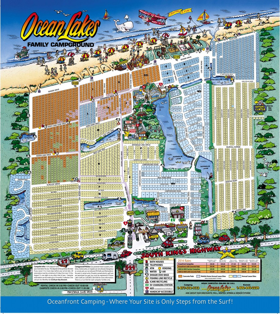 Oceanlakes2014map Ocean Lakes Family Campground