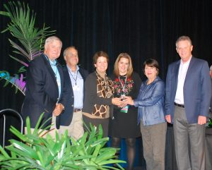 Jackson Family receives Mega Park Award trophy
