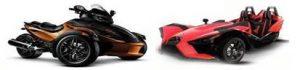 3 wheeled bikes motorcyles