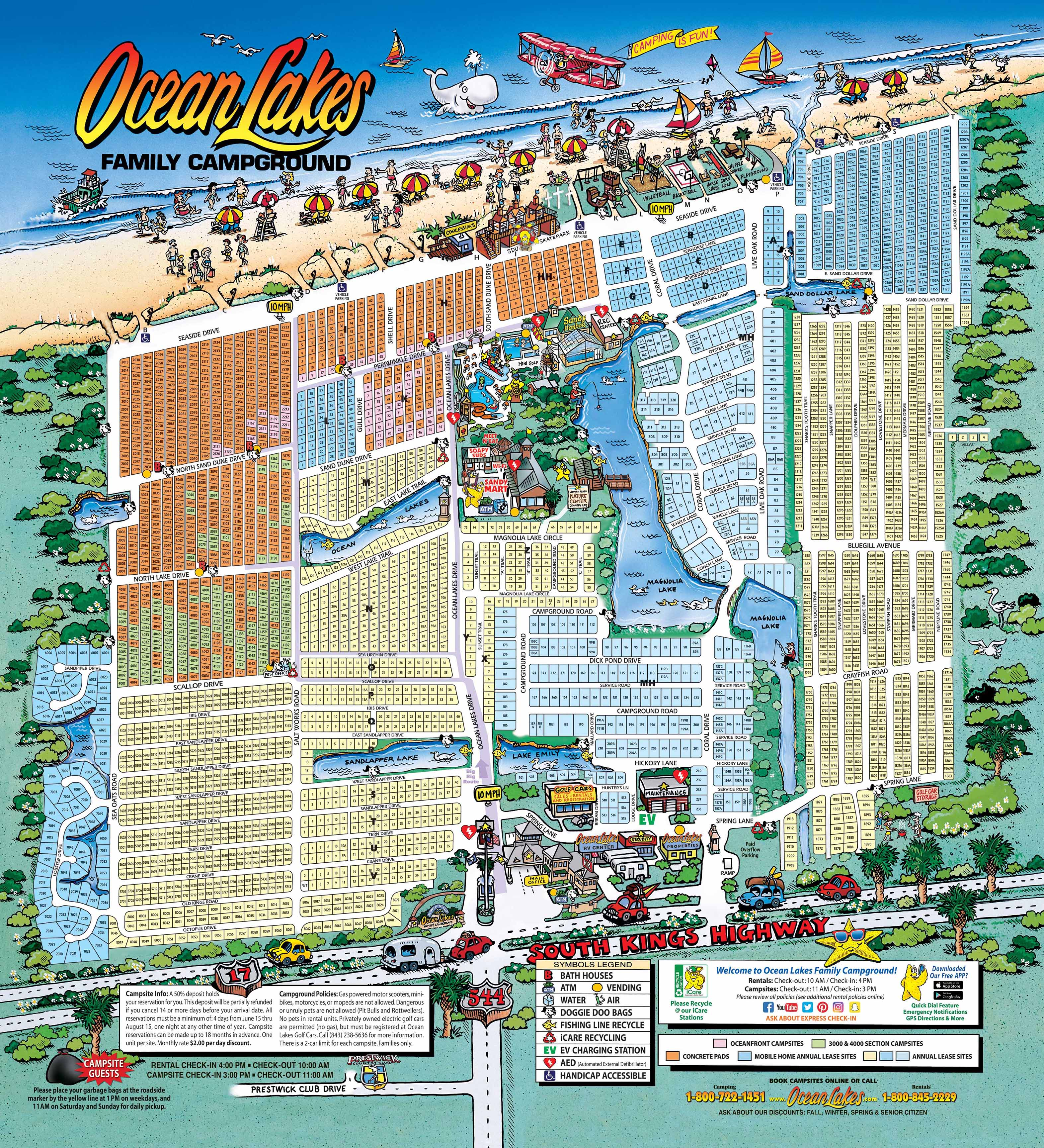 Maps Ocean Lakes Family Campground
