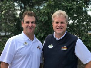 photo of Greg Bender and Lance Thompson, Vice President and General Manager transition March 2021